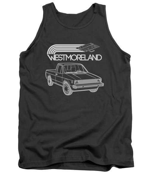 Vw Rabbit Pickup - Westmoreland Theme - Black Tank Top by Ed Jackson