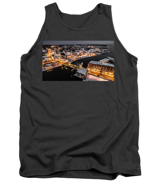 Winter Twilight In Mystic Connecticut Tank Top by Petr Hejl