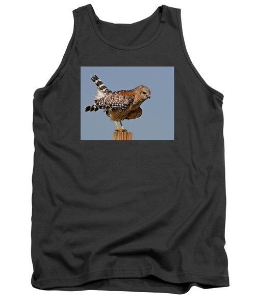 Red Shouldered Hawk Tank Top