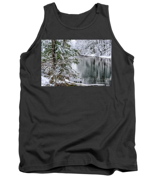 Tank Top featuring the photograph Winter Along Cranberry River by Thomas R Fletcher