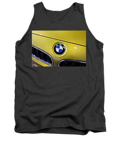 Tank Top featuring the photograph 2015 Bmw M4 Hood by Aaron Berg