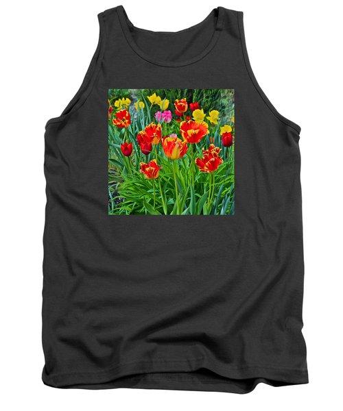 2015 Acewood Tulips 6 Tank Top by Janis Nussbaum Senungetuk