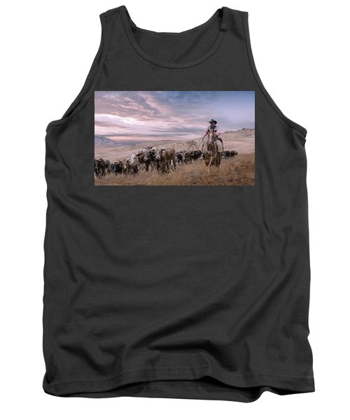 2016 Reno Cattle Drive Tank Top by Rick Mosher