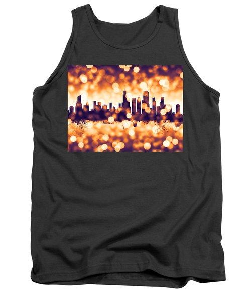 Chicago Illinois Skyline Tank Top by Michael Tompsett
