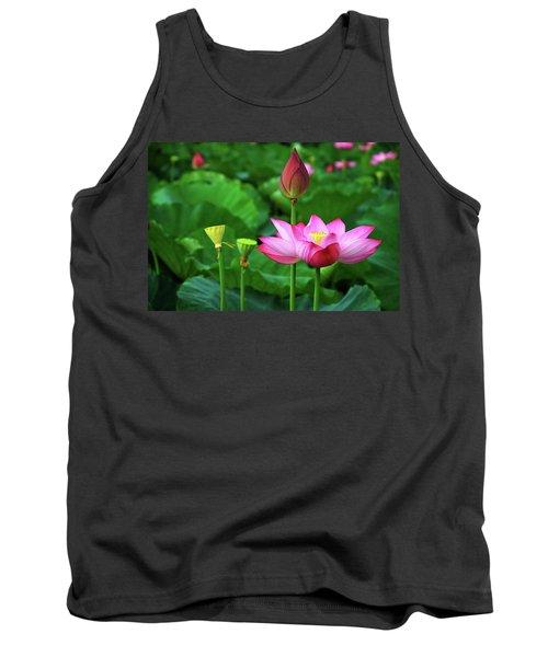 Blossoming Lotus Flower Closeup Tank Top