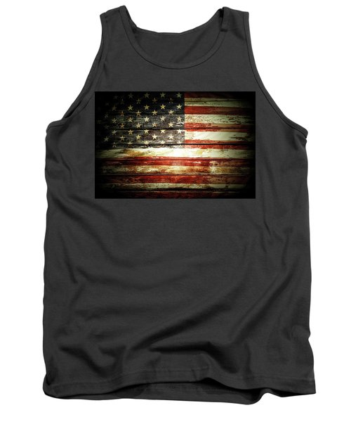 Tank Top featuring the photograph American Flag by Les Cunliffe