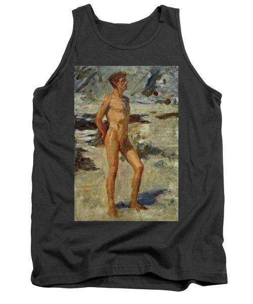 Boy On A Beach Tank Top