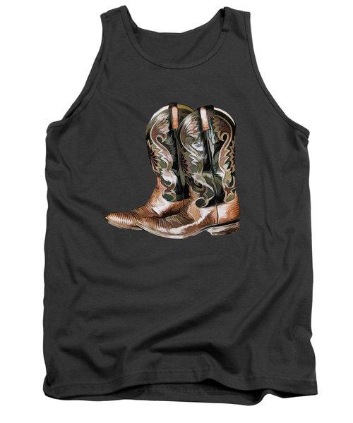 Cowboy Boots Tank Top by Pamela Walton