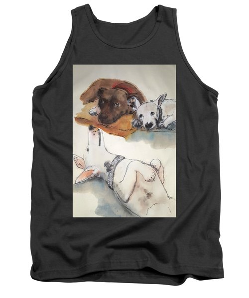 Dogs Dogs  Dogs Album Tank Top by Debbi Saccomanno Chan