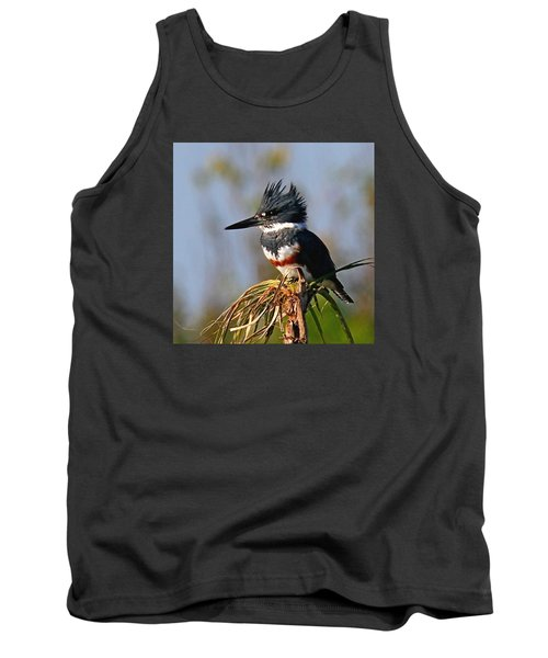 Female Belted Kingfisher Tank Top
