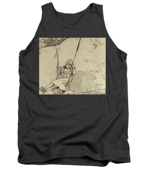 Girl On A Swing Tank Top