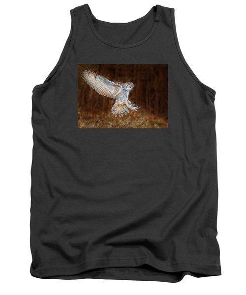 Great Horned Owl Tank Top by CR Courson