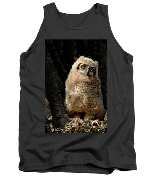Great Horned Owlet Tank Top