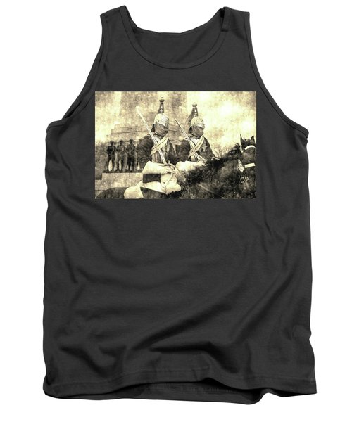 Household Cavalry Changing Of The Guard Vintage Tank Top