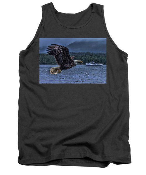 Tank Top featuring the digital art In Flight. by Timothy Latta