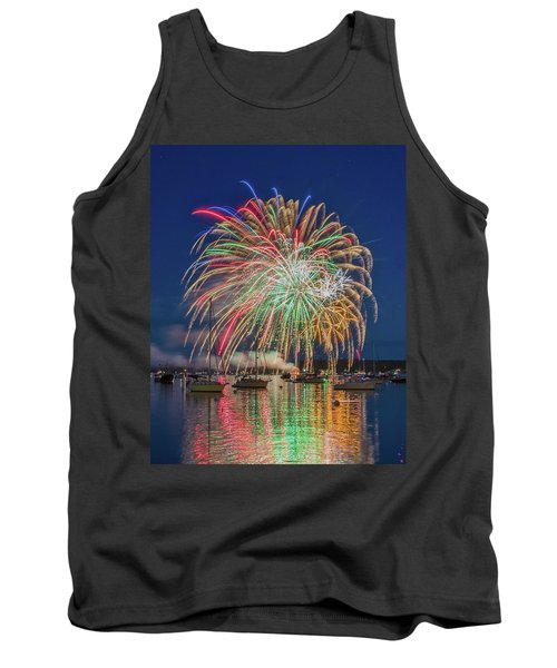 Independence Day Fireworks In Boothbay Harbor Tank Top