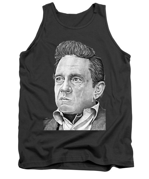 Johnny Cash Tank Top by Bill Richards
