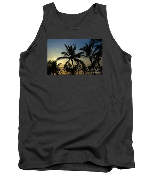Tank Top featuring the photograph Kona Sunset by Kelly Wade