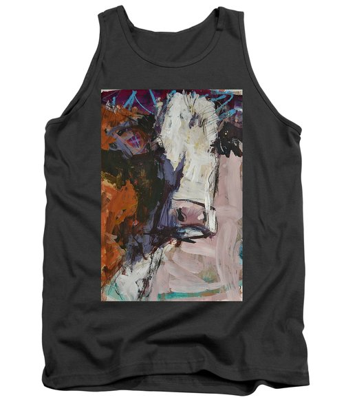 Modern Abstract Cow Painting Tank Top