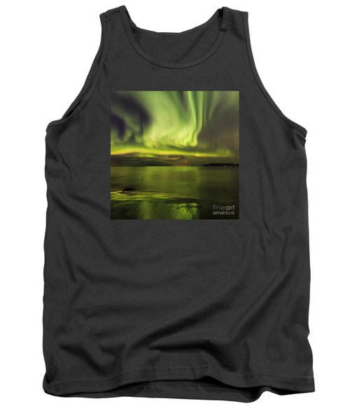 Northern Lights Reykjavik Tank Top by Gunnar Orn Arnason