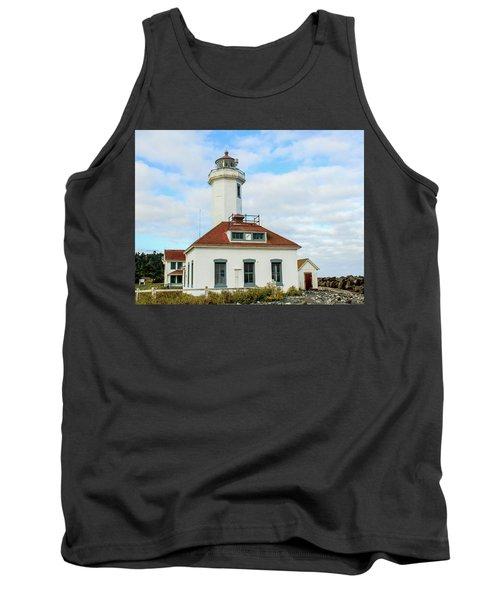 Point Wilson Lighthouse Tank Top by E Faithe Lester