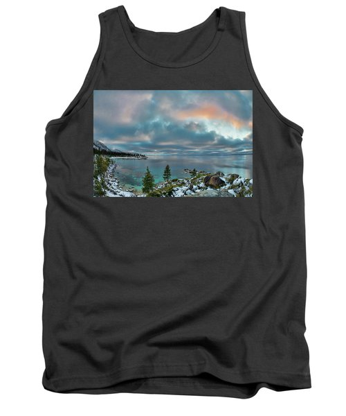Sand Harbor Sunset Tank Top