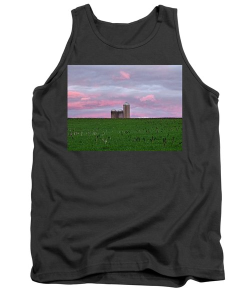 Tank Top featuring the photograph 3 Silos by Robert Geary