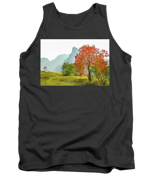 The Colorful Autumn Scenery Tank Top