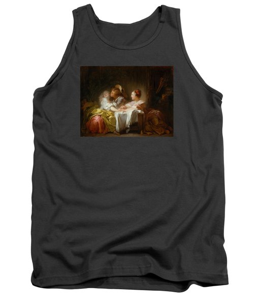 Tank Top featuring the painting The Stolen Kiss by Jean-Honore Fragonard