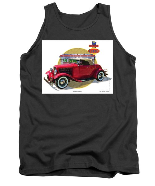32 Red Roadster Tank Top by Kenneth De Tore