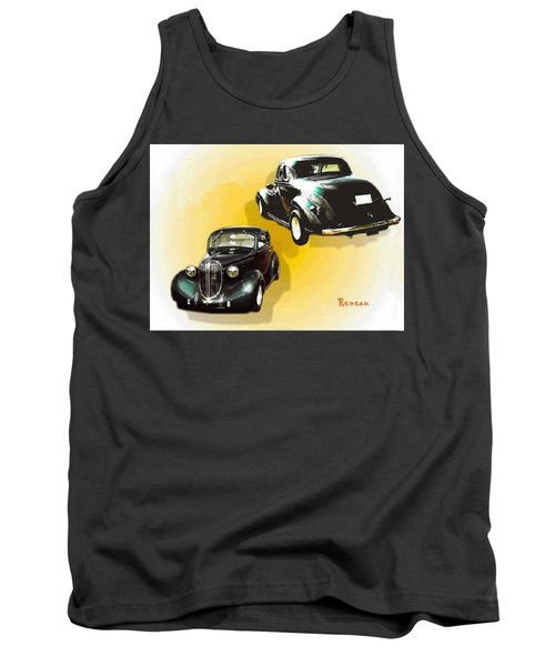 Tank Top featuring the photograph '38 Plymouth by Sadie Reneau