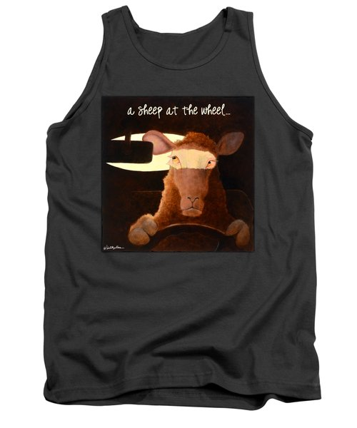 A Sheep At The Wheel... Tank Top by Will Bullas