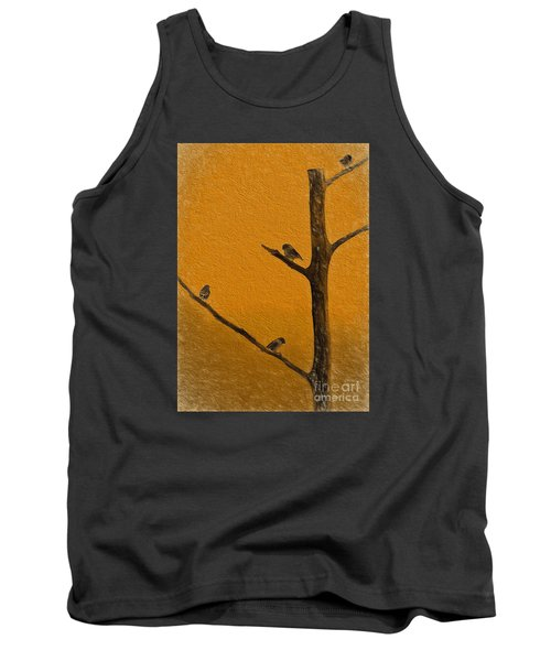 Tank Top featuring the photograph 4 Birds by Mim White