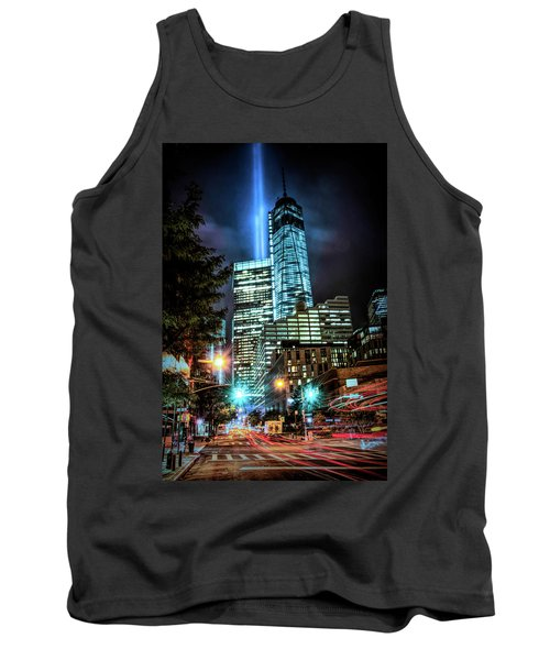 Tank Top featuring the photograph Freedom Tower by Theodore Jones