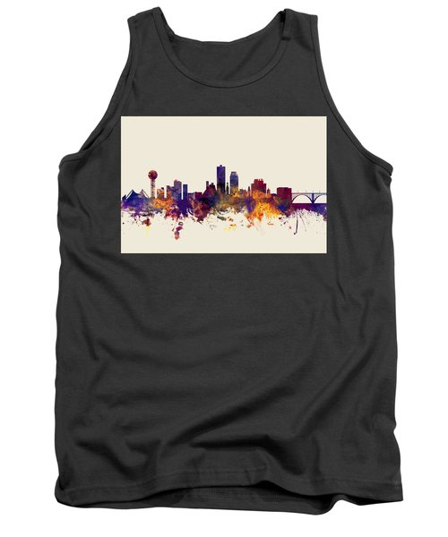 Knoxville Tennessee Skyline Tank Top