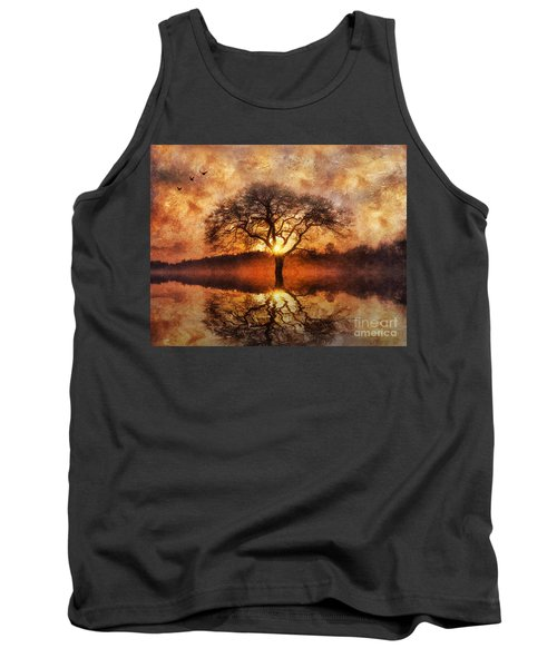 Tank Top featuring the digital art Lone Tree by Ian Mitchell