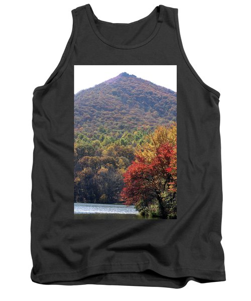 View Of Abbott Lake And Sharp Top In Autumn Tank Top