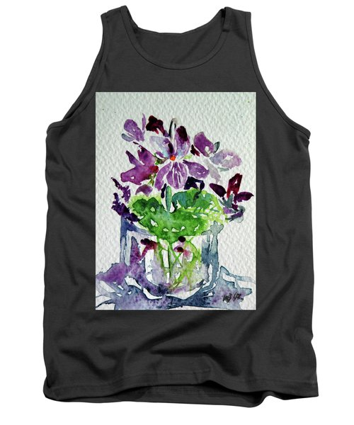 Tank Top featuring the painting Violet by Kovacs Anna Brigitta