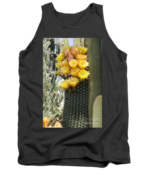 Yellow Cactus Flowers Tank Top