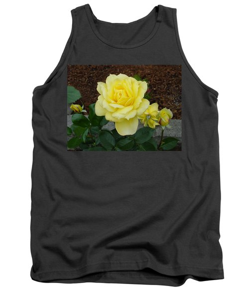 4 Yellow Roses Tank Top by Shirley Heyn