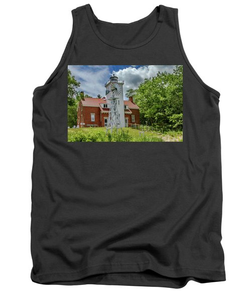 Tank Top featuring the photograph 40 Mile Point Lighthouse by Bill Gallagher