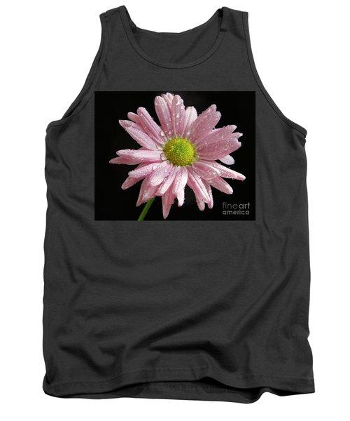 Pink Flower Tank Top by Elvira Ladocki