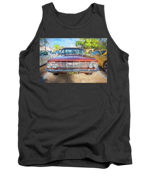 Tank Top featuring the photograph 1961 Chevrolet Impala Ss  by Rich Franco