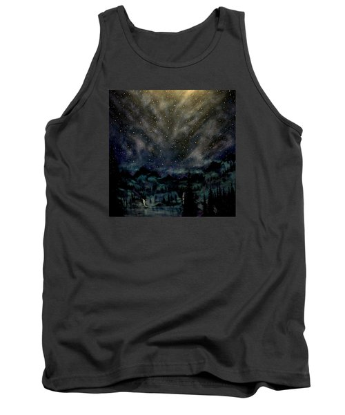 Tank Top featuring the painting Cosmic Light Series by Len Sodenkamp