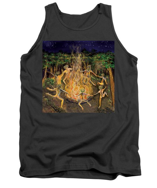Dancing Naked In The Forest Cd Cover Tank Top
