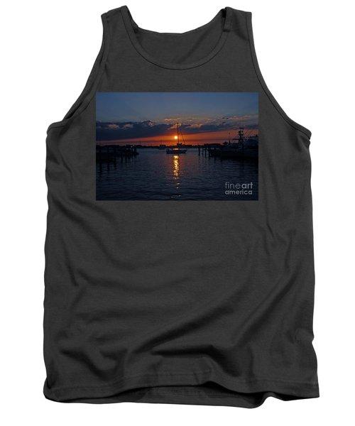 5- Sailfish Marina Sunset In Paradise Tank Top by Joseph Keane