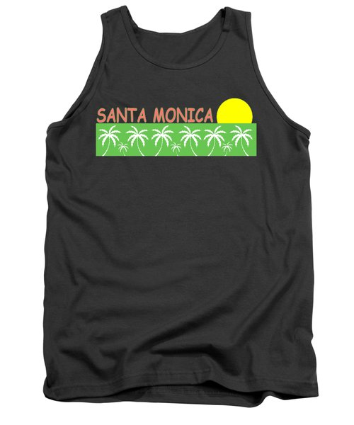 Santa Monica Tank Top by Brian's T-shirts