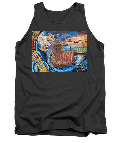 500 Empires Never Die - Odin Tank Top by Sigrid Tune
