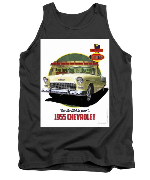 55 Chevy Tank Top by Kenneth De Tore