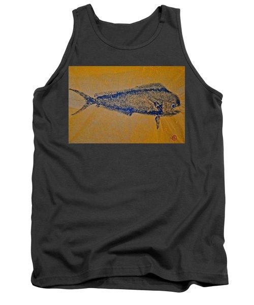 Gyotaku - Mahi Mahi - Dorado - Dolphinfish Tank Top